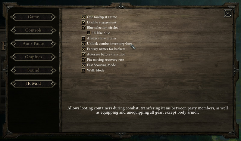 IE Mod for Pillars of Eternity